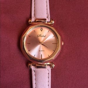 Womens Pink Geneva Watch